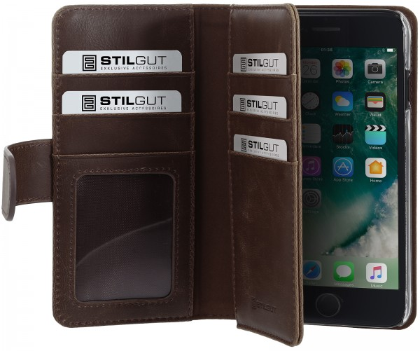 StilGut - iPhone 8 Hülle Talis XL mit Kreditkartenfach