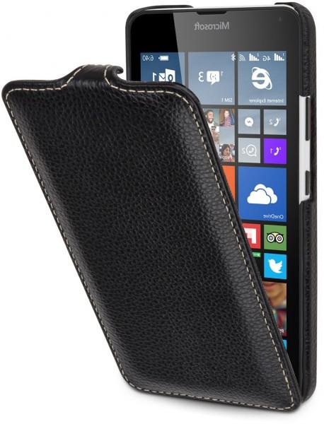 """StilGut - Handyhülle für Lumia 640 """"UltraSlim"""" (Orange/Blau)"""