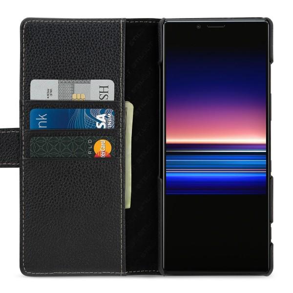 StilGut - Sony Xperia 1 Flip Cover Talis mit Kartenfach