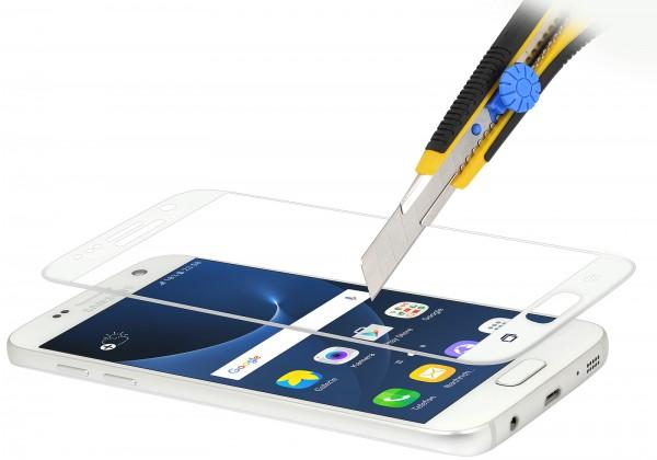 StilGut - Panzerglas 3D curved Samsung Galaxy S7 mit weißem Rand