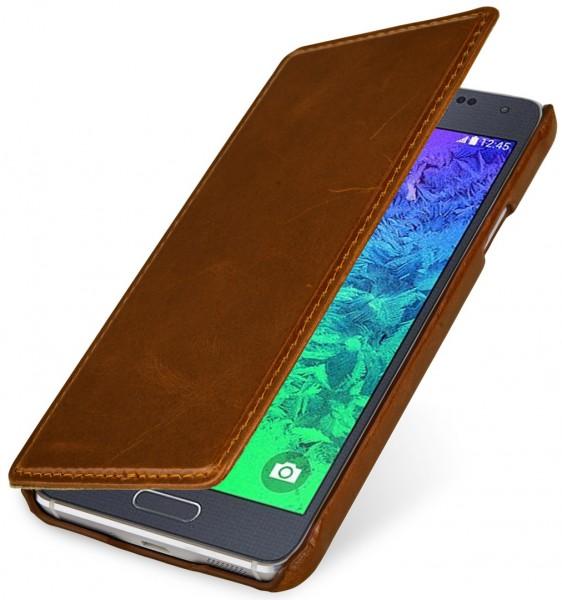 """StilGut - Handyhülle für Samsung Galaxy Alpha """"Book Type"""" ohne Clip"""