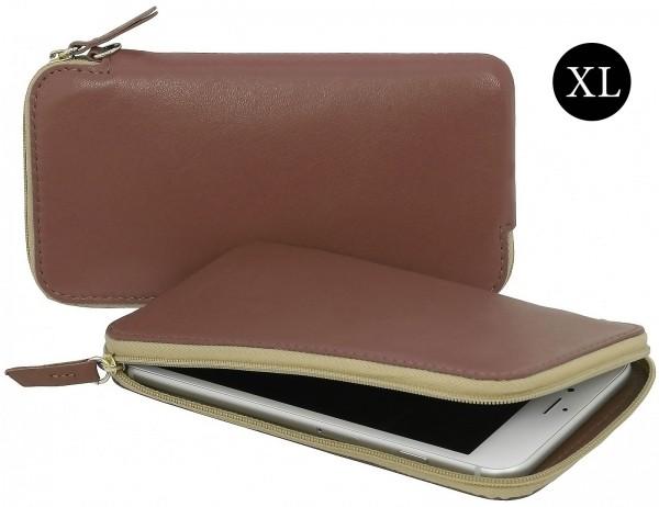 StilGut - Handytasche aus Leder mit Reissverschluss XL