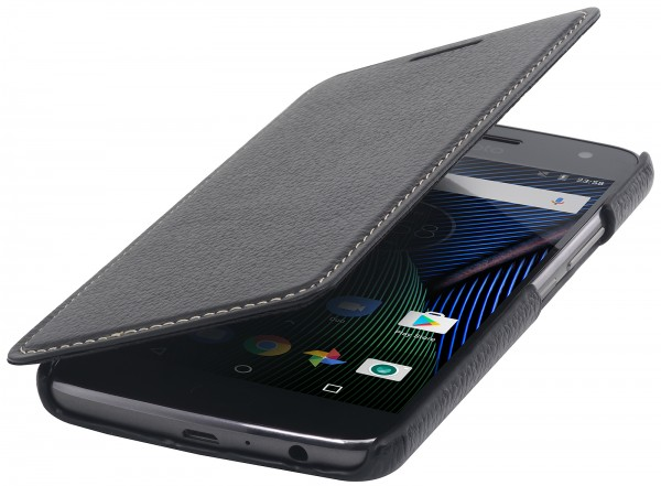 StilGut - Moto G5 Plus Case Book Type ohne Clip