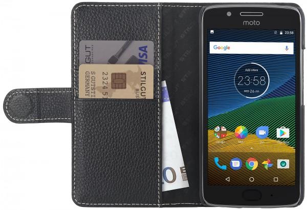 StilGut - Moto G5 Plus Hülle Talis mit Kreditkartenfach