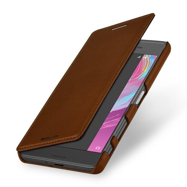 StilGut - Sony Xperia X Case Book Type aus Leder ohne Clip