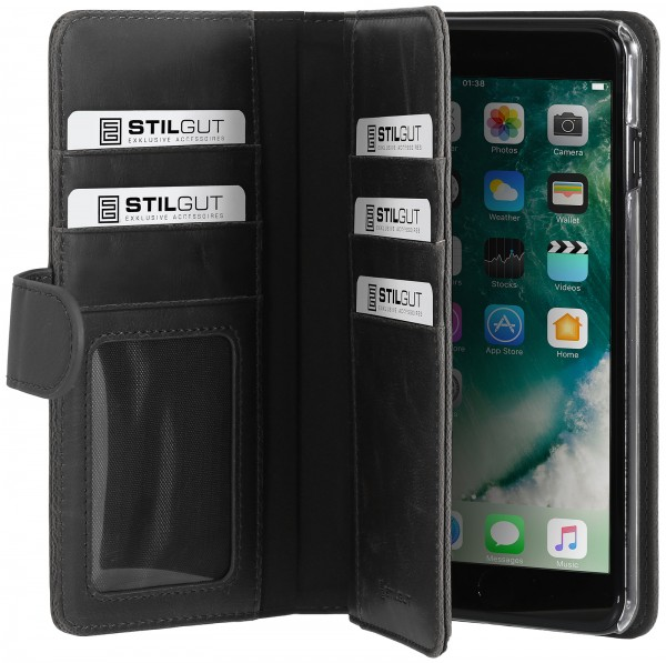 StilGut - iPhone 8 Plus Hülle Talis XL mit Kreditkartenfach