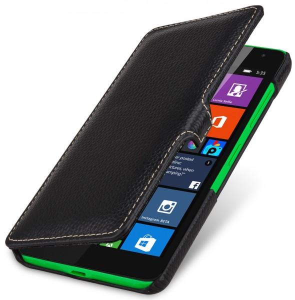 """StilGut - Handyhülle für Microsoft Lumia 535 """"Book Type"""" mit Clip"""