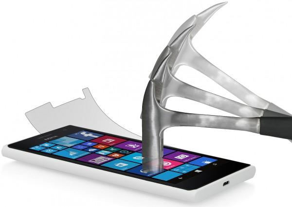 StilGut - Displayschutzfolie Panzerglas für Nokia Lumia 730 (2er-Pack)