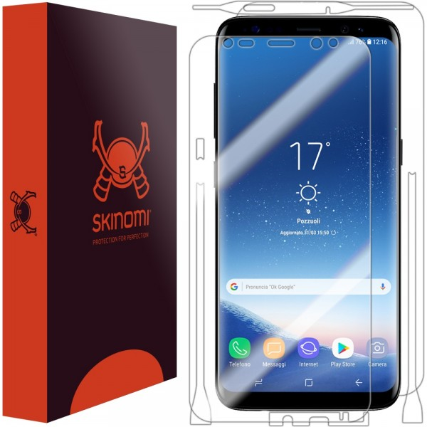 Skinomi - Displayschutzfolie Samsung Galaxy S8+ Full Body