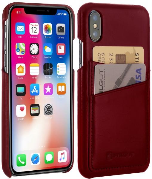 StilGut - iPhone XS Cover mit Kartenfach