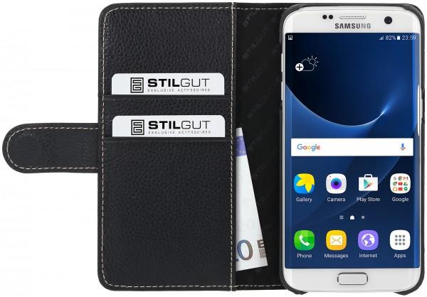 StilGut - Samsung Galaxy S7 edge Hülle Talis mit Kreditkartenfach aus Leder