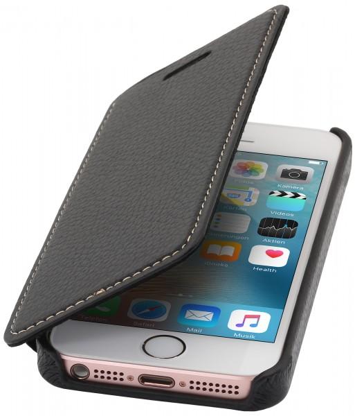 StilGut - iPhone 5 & 5s Case Book Type aus Leder ohne Clip