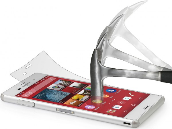 """StilGut - Displayschutzfolie """"Panzerglas"""" für Sony Xperia Z3 2er Pack"""