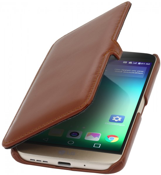StilGut - LG G5 Tasche Book Type aus Leder mit Clip