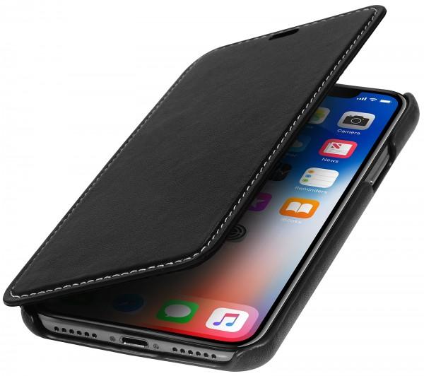 StilGut - iPhone X Case Book Type ohne Clip