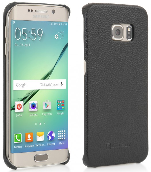 "StilGut - Handyhülle für Galaxy S6 edge ""Cover Type"" aus Leder"
