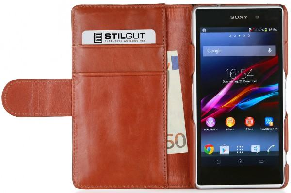 """StilGut - Ledertasche """"Talis"""" Fashion Serie für Sony Xperia Z1 Compact"""