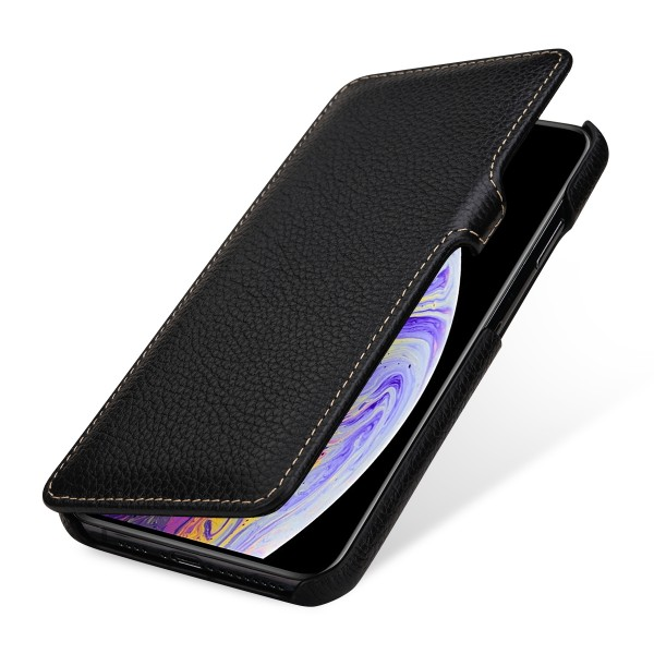 StilGut - iPhone XS Max Tasche Book Type mit Clip