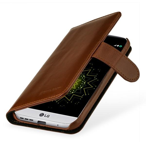 StilGut - LG G5 Hülle Talis mit Kreditkartenfach aus Leder
