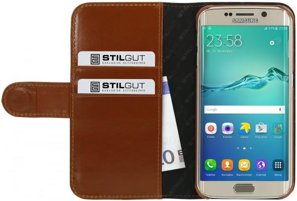 StilGut - Samsung Galaxy S6 edge Hülle Talis mit Kreditkartenfach aus Leder