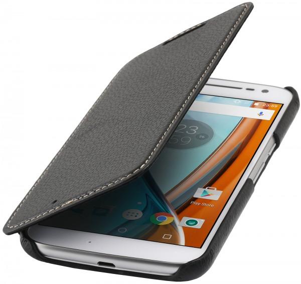 StilGut - Moto G4 Case Book Type ohne Clip