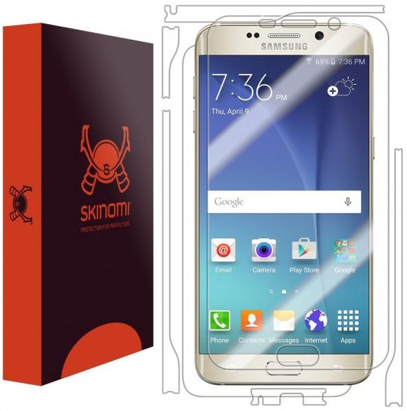 Skinomi - Displayschutzfolie für Galaxy S6 edge+ TechSkin für Vorder- und Rückseite