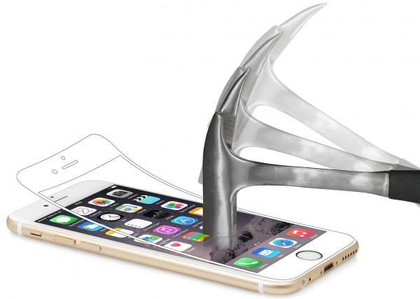 StilGut - Panzerglasfolie für iPhone 6 Plus & 6s Plus (2er-Pack), weißer Rand