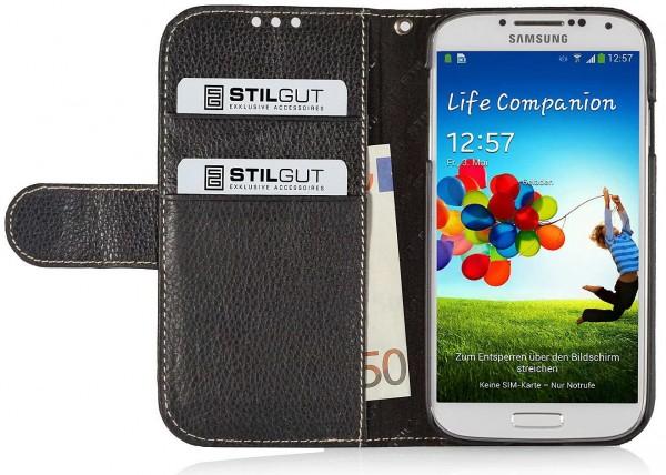 "StilGut - Ledertasche ""Talis"" für Samsung Galaxy S4 i9500 & i9505"