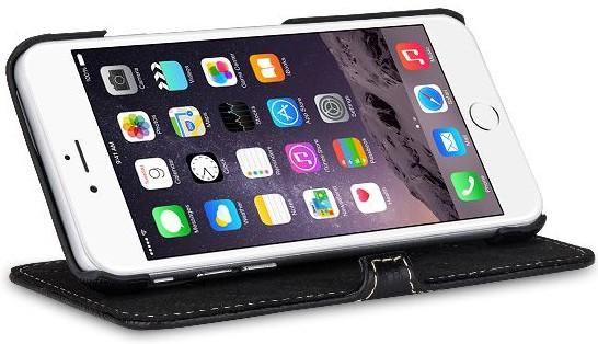 """StilGut - Handyhülle für iPhone 6 """"Book Type"""" mit Standfunktion"""