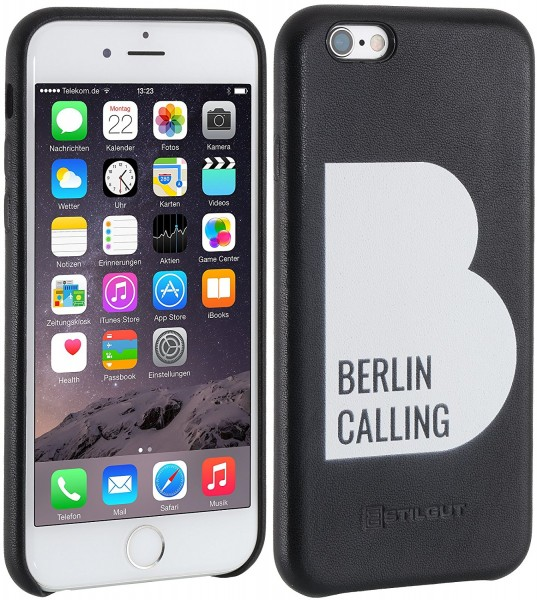 StilGut - iPhone 6s Cover Berlin Calling aus Leder - Like Berlin Edition