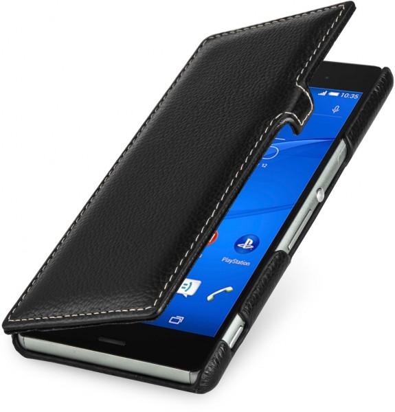 """StilGut - Handyhülle für Sony Xperia Z3 """"Book Type"""" mit Clip aus Leder"""