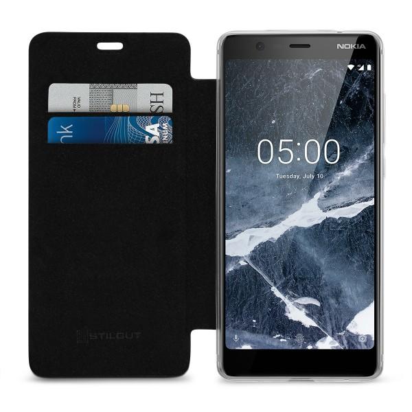 StilGut - Nokia 5.1 Book Type NFC/RFID Blocking Hülle