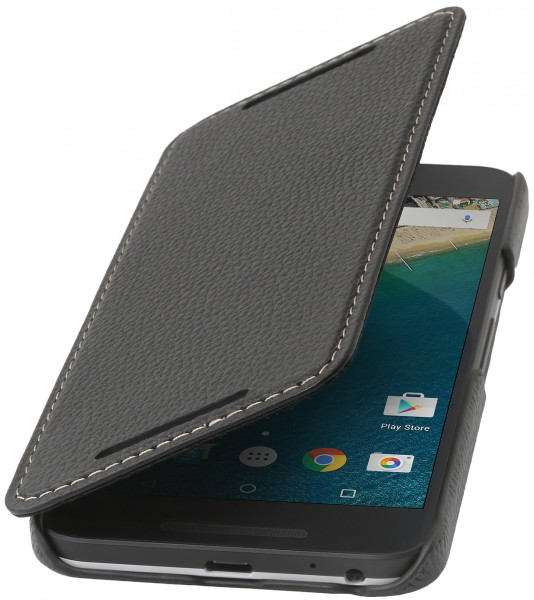 "StilGut - Nexus 5X Case ""Book Type"" aus Leder ohne Clip"