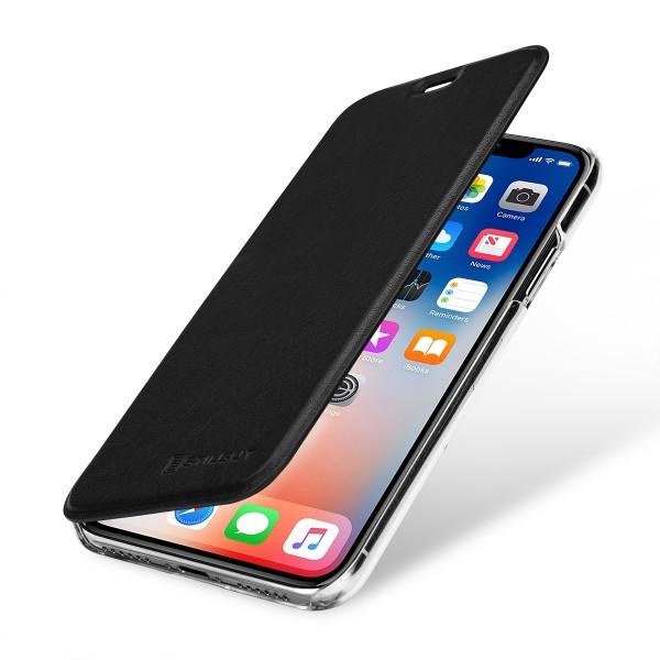 StilGut - iPhone XS Max Book Type NFC/RFID Blocking Hülle