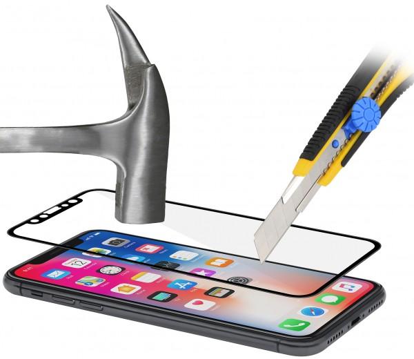 StilGut - iPhone XS Panzerglas 3D Full Cover (2er Pack)