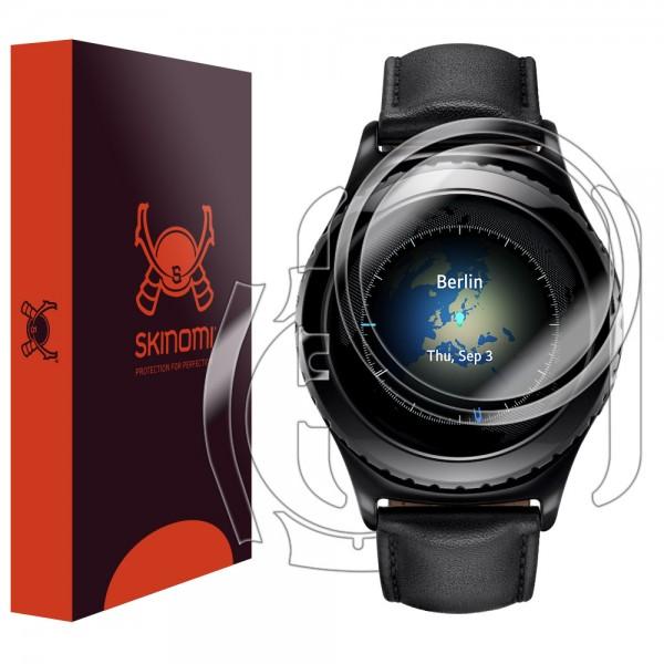 Skinomi - Displayschutzfolie Samsung Gear S2 Classic TechSkin Vorder- und Rückseite