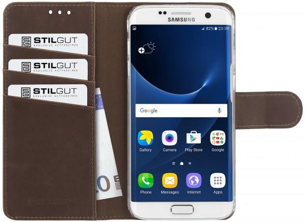 StilGut - Samsung Galaxy S7 edge+ Hülle Talis mit Standfunktion