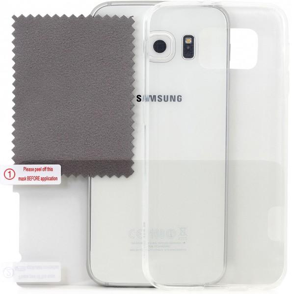 StilGut - Ghost, Schutzhülle inkl. Schutzfolie für Galaxy S6