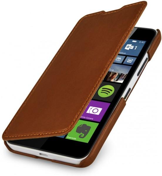 """StilGut - Handyhülle für Lumia 640 """"Book Type"""" ohne Clip (Orange/Blau)"""