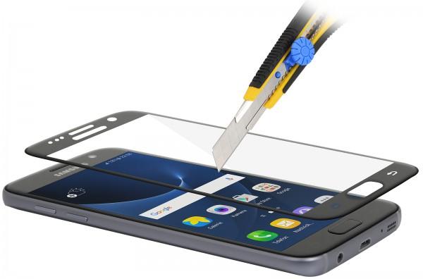 StilGut - Panzerglas 3D curved Samsung Galaxy S7 mit schwarzem Rand