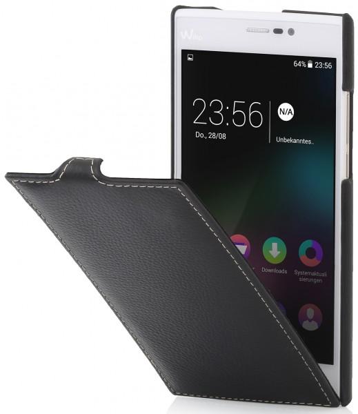 """StilGut - Handyhülle für Wiko Ridge Fab 4G """"UltraSlim"""" aus Leder"""