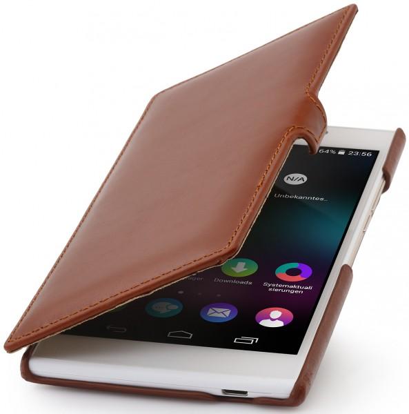 """StilGut - Handyhülle für Wiko Ridge Fab 4G """"Book Type"""" mit Clip"""