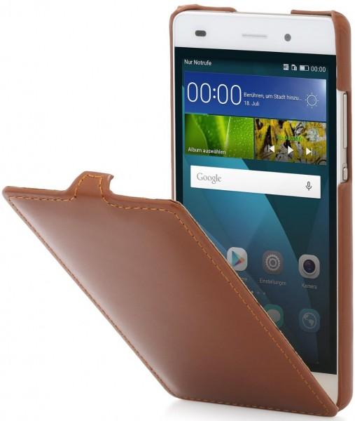 """StilGut - Handyhülle für Huawei P8 Lite """"UltraSlim"""" aus Leder"""