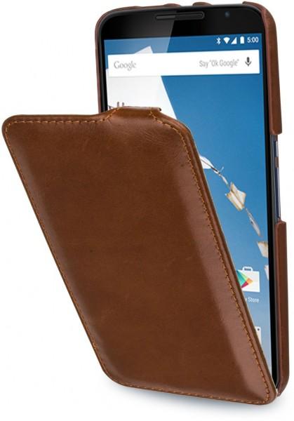"""StilGut - Handyhülle für Nexus 6 """"UltraSlim"""" aus Leder"""