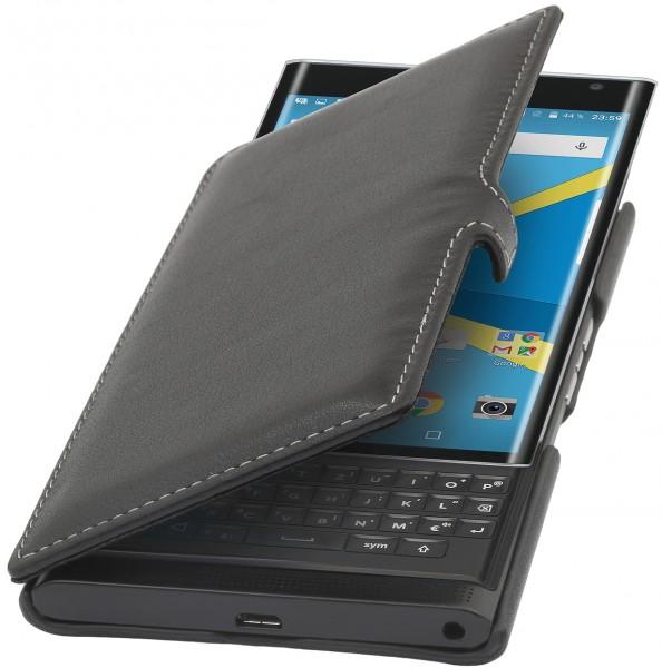 StilGut - BlackBerry PRIV Tasche Book Type aus Leder mit Clip