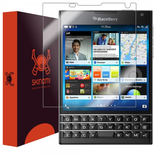 Skinomi - Displayschutzfolie BlackBerry Passport TechSkin