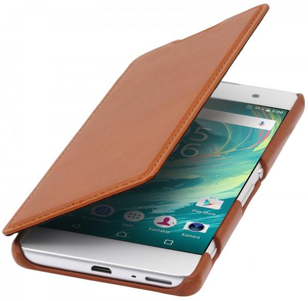 StilGut - Sony Xperia XA Case Book Type aus Leder ohne Clip