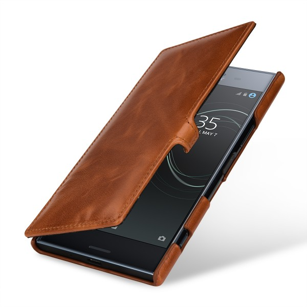 StilGut - Sony Xperia XZ Premium Tasche Book Type mit Clip
