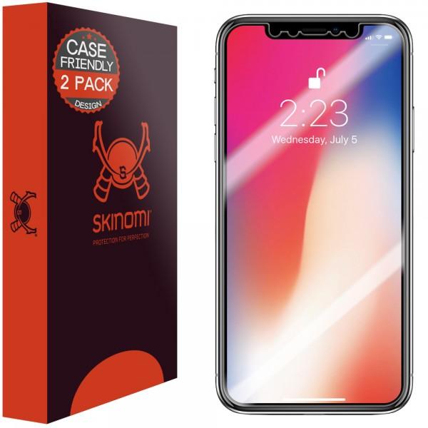 Skinomi - iPhone XS Displayschutzfolie (2er Pack)