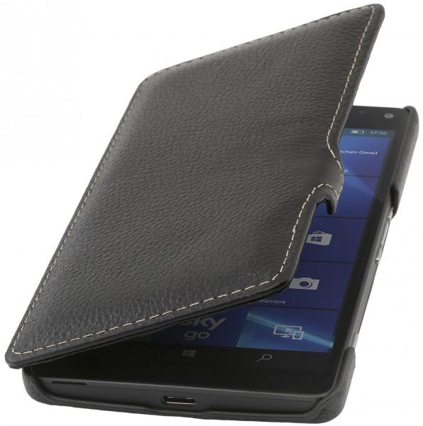 StilGut - Lumia 950 XL Tasche Book Type aus Leder mit Clip
